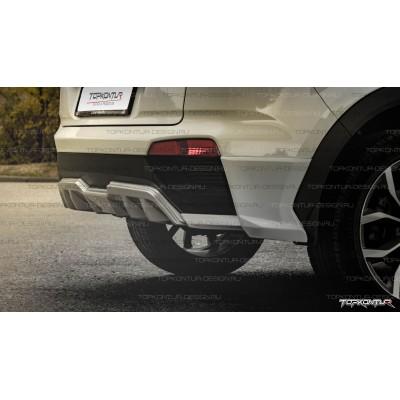 Hyundai Creta Юбка заднего бампера ZEUS  | Топконтур Дизайн