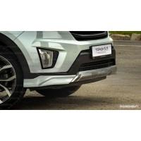 Hyundai Creta Юбка переднего бампера ZEUS