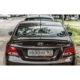 Спойлер S на Hyundai solaris седан (узкий)