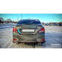 Двойной выхлоп Hyundai Solaris 2014-2016
