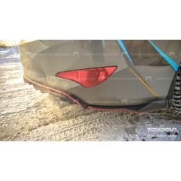 Элероны заднего бампера Hyundai Solaris седан