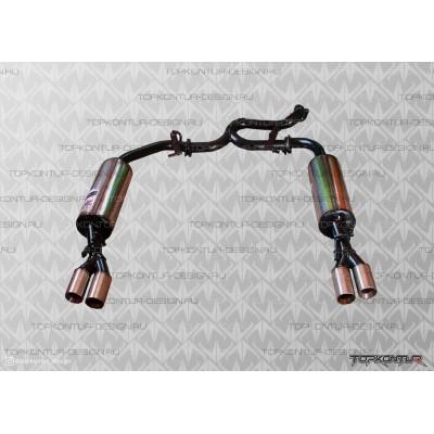 Глушитель прямоточный раздвоенный Hyundai Solaris можно приобрести с диффузором и элеронами