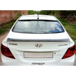 Hyundai Solaris накладка на стекло (козырек)
