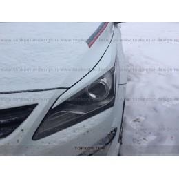 Hyundai Solaris накладки на передние фары HS1