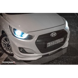 Сплиттер переднего бампера Hyundai Solaris 2010-2014