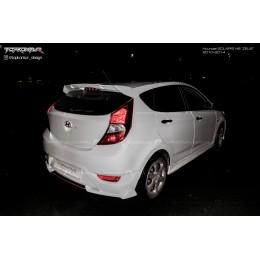 Сплиттер заднего бампера Hyundai Solaris HB 2011-2014