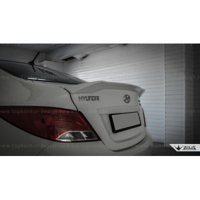 Hyundai Solaris седан спойлер (липспойлер) ZEUS