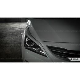 Hyundai Solaris накладки на передние фары ZEUS