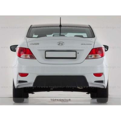Hyundai Solaris задний бампер iFlow