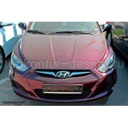 Hyundai Solaris накладки на передние фары (реснички) дорестайлинг