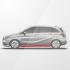 Honda Civic 4D Накладки на пороги